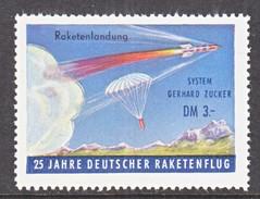 GERMANY  ZUCKER  ROCKET  MAIL  LABEL  25 Th  ANNIV. - Unused Stamps