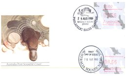 (157) Australia FDC Cover - Platypus - 1986 (11 Covers) - 2010-... Elizabeth II