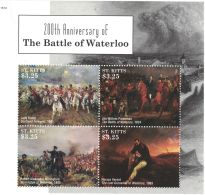 [D*] St Kitts - Battle Of Waterloo, 2015 - 1514 M/S MNH - Militaria