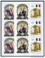 Korea 1984, SC #2383-84, Imperf M/S Of 3, Alfred Bernhard Nobel - Nobel Prize Laureates