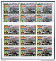 Korea 1983, SC #2318, Perf & Imperf M/S Of 9, BANGKOK '83, Ship - Exposiciones Filatélicas