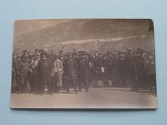 Prisonniers De GUERRE : St. NIKLAUS - Suisse 1916 / Verstuurd Naar LONCIN Larondelle ( Zie Foto's ) !! - War, Military