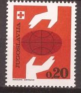 1969  36  ROT KREUZ ERDKUGEL  TERRA     JUGOSLAVIJA  JUGOSLAWIEN  ERSTE HILFE     MNH - Charity Issues