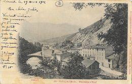 Vallée De L'Aude, Panorama D'Axat - Cliché A.T. - Carte Précurseur - Axat