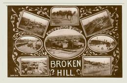 Australia, NSW, Broken Hill, Mines, Township, Steam Tram, Camel Train, Photo Postcard - Broken Hill