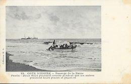 Côte D'Ivoire, Passage De La Barre - Deux Boys Poussent Encore - Collection M.B. - Carte Non Circulée - Côte-d'Ivoire