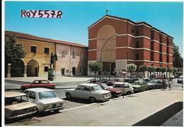Lazio-aprilia Parrocchia S.michele Veduta Diverse Auto In Sosta Anni 60/70 - Aprilia