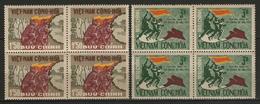 VIETNAM DU SUD:  N°309C/309D ** En Blocs De 4, TB. Cote 176€ - Viêt-Nam