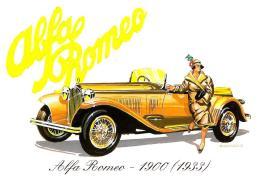 [MD0894] CPM - RIPRODUZIONE - PUBLICARD 937 - ALFA ROMEO 6 CILINDRI 1900 CC (1933) - NV - Cartoline