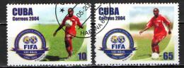 CUBA - 2004 - CENTENARIO DELLA FIFA - FEDERAZIONE INTERNAZIONALE DEL CALCIO - USATI - Used Stamps