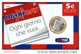 TIM RICARICA Télécarte Phonecard Telefonkart TEMATICA MONETE - Francobolli & Monete