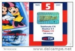 TIM HAPPY RICARICA 5 DISNEY TOPOLINO DIC 2004 - Italia