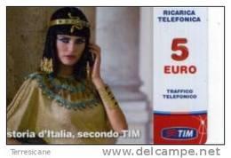 TIM RICARICA 5 STORIA  D'ITALIA CLEOPATRA MAR 2014 - Italia