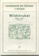 Schweiz - Landeskarte Der Schweiz 1:50 000 - Wildstrubel Blatt 263 - Eidgenössische Landestopographie Wabern-Bern 1967 - - Landkarten