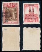 Ruanda Urundi - 119-Cu1 & Cu2 + 120-Cu1 - Variety - Inverted & Shifted Overprint - 1941 - MH - 1924-44: Mint/hinged