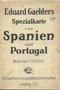 Eduard Gaeblers Spezialkarte Von Spanien Und Portugal - 1:1200 000 - 83cm X 96cm Mehrfarbenkarte - Landkarten