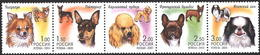 Russia, Dogs, 2000, Set Of  5 Stamps - 1992-.... Federatie