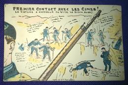 HALTE-LÀ ! PREMIER CONTACT Avec Les CIMES ! LA NATURE A HORREUR DU VIDE. LE BIDON AUSSI - Du 25ème BCA Menton V. 1920 - Humour