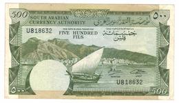 Yemen Democratic, 500 Fils 1965, VF+ . Free S/H To USA. - Jemen