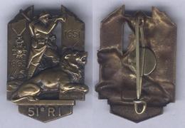Insigne Du 51e Régiment D'Infanterie - Landmacht