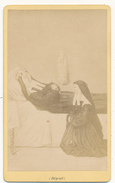 CDV - Bernadette Soubirous, Soeur Marie Bernard, Lourdes - 2 Scans - Oud (voor 1900)
