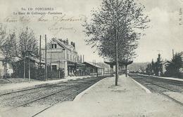 69,Rhôe,FONTAINES, La Gare De Collonge-Fontaines,Personnages, Scan Recto-Verso - Autres Communes