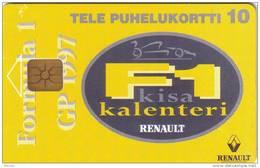 FINLANDE FINLAND  PRIVEE RENAULT CALENDAR F1 FORMULA 1 10U  NEUVE MINT RARE - Voitures