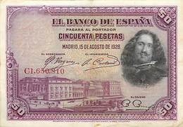 BILLET ESPAGNE 50 PESETAS 1928 - [ 1] …-1931 : Prime Banconote (Banco De España)