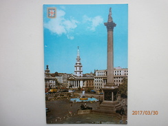 Postcard Nelson Column And Trafalgar Square London Animated My Ref B2805 - Monuments