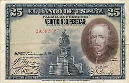 BILLET ESPAGNE 25 PESETAS 1928 - [ 1] …-1931 : Prime Banconote (Banco De España)