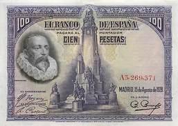 BILLET ESPAGNE 100 PESETAS 1928 - [ 1] …-1931 : First Banknotes (Banco De España)