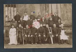 MILITARIA CARTE PHOTO MILITAIRE HOPITAL BOURBONNE BLESSES & INFIRMIERE CROIX ROUGE : - Personen