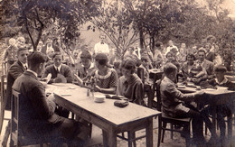 BAD JOHANNISBRUNNEN [ JANSKÉ KOUPELE ] - ZUR LÖWENGRUBE : AU JEU DE CARTES / PLAYING CARDS / DOMINOS ~ 1930 -'35 (v-838) - Repubblica Ceca
