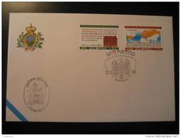San Marino 1999 UPU 125 Aniversary Cover Italy - UPU (Union Postale Universelle)