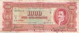 BOLIVIE   1000 Bolivianos   L. 20/12/1945   P. 149 - Bolivie