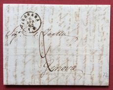 FERRARA 11/4/1862  LETTERA COMPLETA DI TESTO   DA FERRARA A GENOVA - 1. ...-1850 Prefilatelia