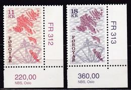 1997, Färöer, 320/21, Landkarte, MNH **. - Féroé (Iles)