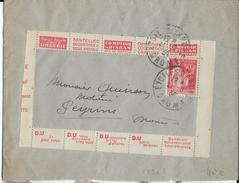 """TYPE PAIX ISSU De CARNET - 1934 - PUB """"RISBAN"""" ENVELOPPE De ETOILE (DROME) - Pubblicitari"""