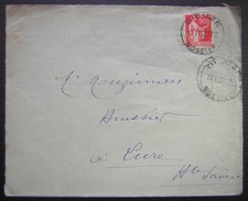 1933 Dieuze (Moselle) Lettre Pour Lure - Postmark Collection (Covers)