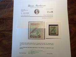Equateur Ecuador 1929 Scadta Airmail, The Rare Yvert 1 = 2100€, Michel 1F, Scott C6. Signed Calves Cert. Moorhouse. - Ecuador