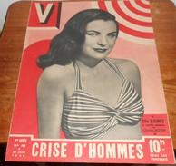V.  N°91. 30 Juin 1946. Ella Raines Et Charles Boyer. Les Alpinistes. Clark Gable. Crise D'hommes.Casablanca. - Livres, BD, Revues