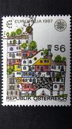 Österreich 1876 Oo/used, EUROPA/CEPT 1987, Hundertwasser-Haus, Wien - 1981-90 Used