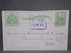 HAITI - Entier Postal Pour La France En 1903 - L 6424 - Haïti