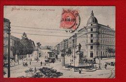1 Cpa Carte Postale Ancienne -   Bilbao - Plaza Circular Y Banca De Vizcaya - Vizcaya (Bilbao)