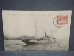 BATEAUX  -  Le Ville De Naples , Carte Voyagé De Tunisie En 1907 - L 6426 - Commerce
