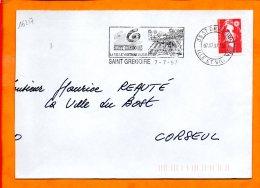 ILLE ET VILAINE, St Grégoire, Flamme SCOTEM N° 16217, La Ville Verte Et Bleue - Postmark Collection (Covers)