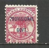 SAMOA YVERT NUM. 34 * NUEVO CON FIJASELLOS - Samoa