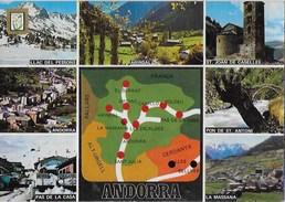 ANDORRA - VARIE VEDUTE - VIAGGIATA 1985 FRANCOBOLLO ASPORTATO - Andorra