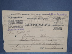 FRANCE - Carte En FM De Bordeaux En 1932 De Convocation De Période D 'instruction - L 6432 - Cartes De Franchise Militaire