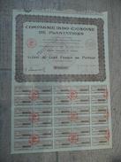 Compagnie Indo-chinoise De Plantations Action De 500 F Au Porteur Tous Coupons 1928 - Agriculture
